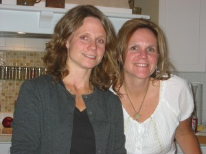 My sister, Becky, and me